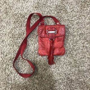 Juicy couture red leather purse